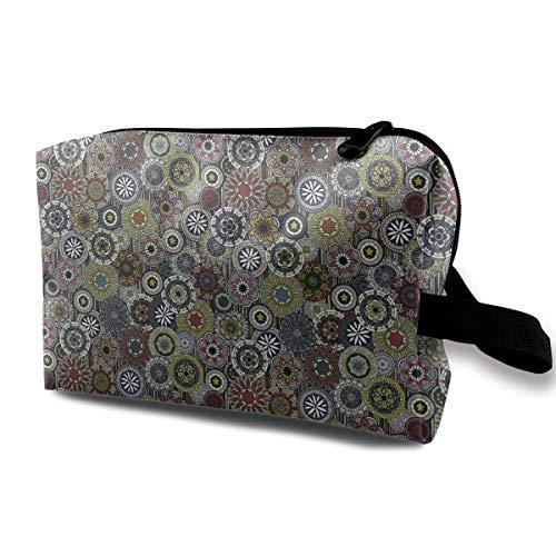 Mandala Stripe Travel Storage Bag Cosmetic Bag Beauty Case Buggy Bag