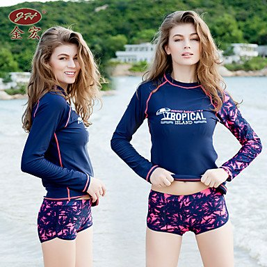Damen Bikinis - Einheitliche Farbe Sport Nylon Polyester Elasthan Stirnband navy blue