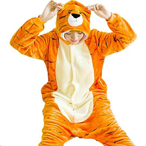 homesave Homesave Tierische Tiger Pyjamas Unisex Erwachsene Cosplay Kostüme,S