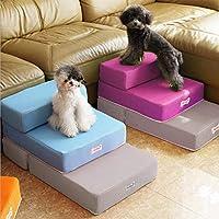 Comaie Escaleras para Mascotas, para Perro, Gato, fácil Escalada, Plegable, portátil, Doble Capa, escaleras de Malla Transpirable, extraíbles, Lavables para Gatos más Mayores, cojín de sofá, escalón