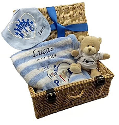 Personalised Luxury Baby Gift Hamper for New Arrival Baby Boy
