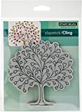 "Penny Black Cling Stamps 4.5""X4.5""-Tree-Heart"