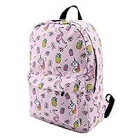 ZHAOSHOP backpack Backpack for Girls Water Resistant Flamingo Diamond Pattern Backpacks Teenage School Bag