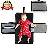 Diaper Pad, WisFox Portable Diaper Changing Pad, Best Travel Baby Diaper Changing pad Kit, Entirely Padded Mat, Mesh and Pockets