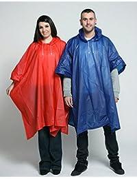 Deluxe PVC Waterproof Rain Ponchos - Ideal for Festivals