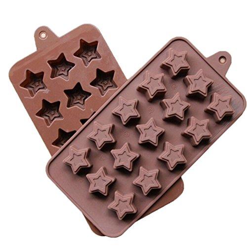 Haushalt Artikel Narutal Home(TM) Silikon Schokoladenform 30 Köstlichkeiten Süße Sterne