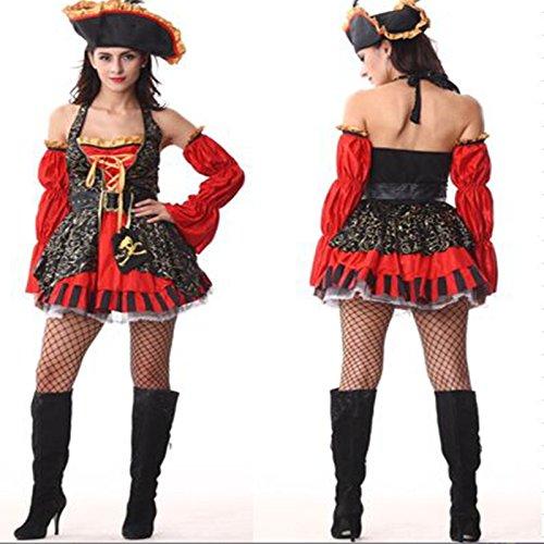 DLucc Ah Nom na weibliche Modelle Bekleidung 2015 Pirates of the Caribbean Piratenkleid Kleidung Cosplay Kleid Halloween (Weibliche Caribbean Pirate Kostüm)