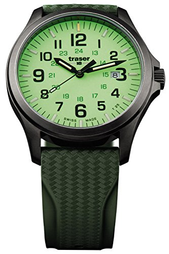 traser H3 Herrenuhr P67 Officer Pro Gun Metal Lime Taucherband 107424