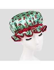 Musuntas fumées de cuisson épaisse imperméable dames imperméables bouchon bonnet de douche de bain Baked bouchon d'huile bonnet de douche visage masque de maquillage cache-poussière Clean doubles réutilisable doux et confortable casquette--green