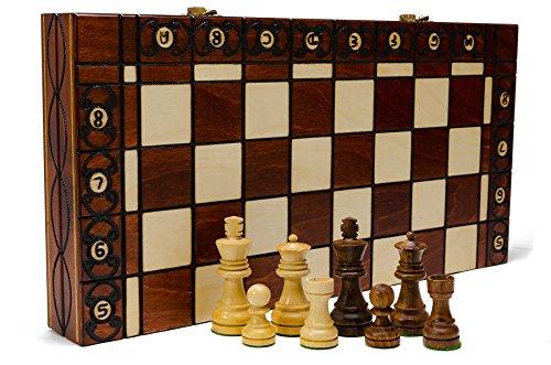 INSIEME di scacchi palissandro STAUNTON - 41cm/16,2 in legno artigianale bella