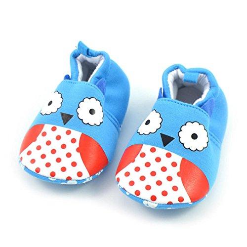 Chaussures bébé,Xinan Chaussures Garçon Fille Cuir Souple Dessin Animé
