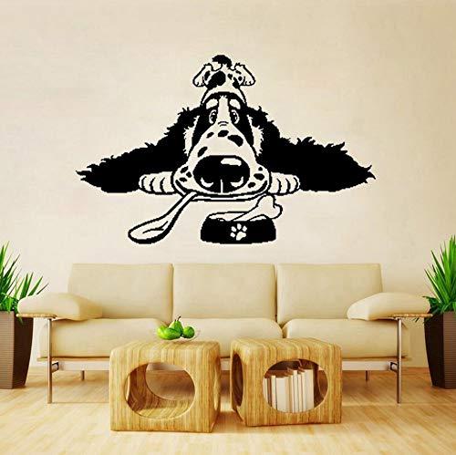 60 CM X 38.1 CM Cartoon Spaniel Rasse Hundefutter PVC Home Art Aufkleber PVC Wandaufkleber -