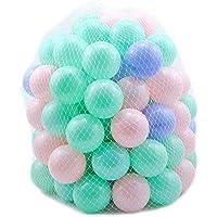 ZZM 100 Bolas de Colores Plástico Pelotas Océano Respetuoso del Medio Ambiente de Colores de plástico (B)