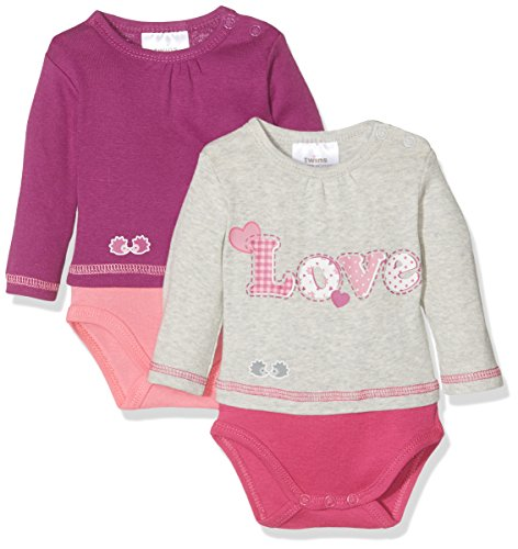 Twins Unisex Baby Body Love, 2er Pack, Rosa (Pink 3501), 18-24 Monate (Herstellergröße: 92)
