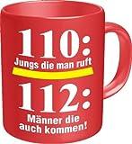 Original Rahmenlos® Taza de café para los Bomberos: Hombres Que también vienen. En caja de cartón 2549