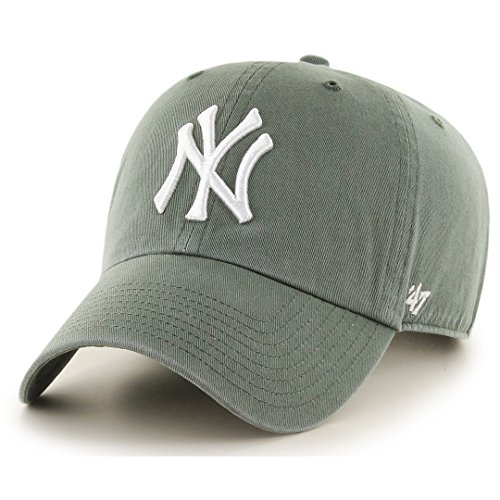 47 Brand MLB NY Yankees Clean Up Cap - Moss Damen-washed Twill Cap
