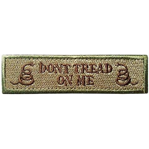 Nuovi 2pcs Nuovo doppio serpente Do not Tread On Me tattico militare Patch nastro Morale Army Badges Ottone