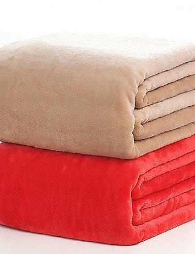 habe Manta super suave manta a la cama Travel cobertores de Casal Manta para sofá con forro polar Princess Decoración Dormitorio, Peach