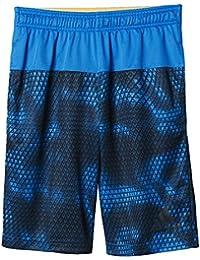 adidas YB Swat Aop Sho - Pantalón corto para niño, color azul / gris, talla 158