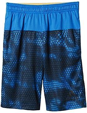 adidas YB Swat Aop Sho - Pantalón corto para niño, color azul / gris, talla 176