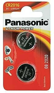 PANASONIC CR 2016 pile au lithium 3V (2-pack)
