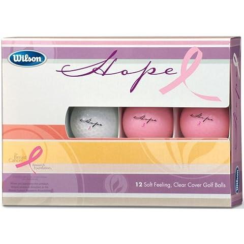 Wilson Hope 12 Ball Ladies Golf Balls (Pink/Clear) - Ladies Golf Balls