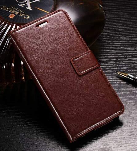 topgadgetsuk iPhone 8Case Slim book style wallet leder Flip Case Card Slots sicheren Magnetverschluss Lock Leder Fall für iPhone 8 braun Flip Lock Wallet