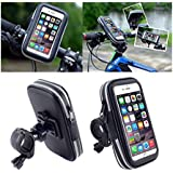 DFV mobile - Soporte Profesional Reflectante para Manillar de Bicicleta y Moto Impermeable Giratorio 360 º para => LG MAGNA H520Y / G4C (LG C90) (2015) > Negra