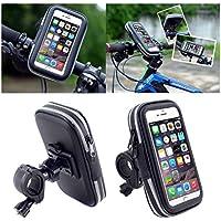DFV mobile - Soporte Profesional Reflectante para Manillar de Bicicleta y Moto Impermeable Giratorio 360 º para => OPPO F1 PLUS > Negra