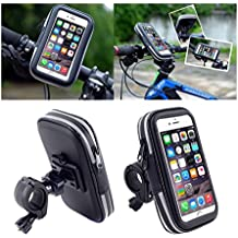 DFV mobile - Professional Reflective Support for Bicycle Handlebar and Rotatable Waterproof Motorcycle 360 º for => LENOVO IDEAPHONE A820 / LEPHONE A820 > Black