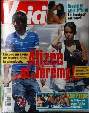 VOICI [No 818] du 14/07/2003 - ROSALIE ET ALAIN AFFLELOU - ALIZEE ET JEREMY - NICE PEOPLE A ST-TROPEZ.