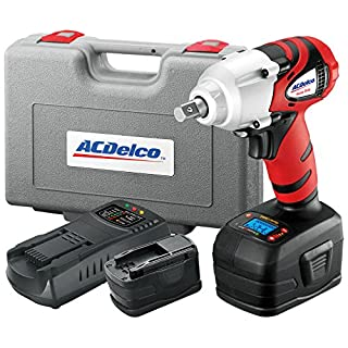 "ACDelco ARI2064B Li-ion 18V 1/2"" Impact Wrench W/Digital Clutch, 300 ft-lbs, 2 battery included, ETC Tool"