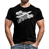 T-Shirt Lift off Muskel Shirt Training Fitness Muskelaufbau Bodybuilding Flavio Simonetti Rundhals