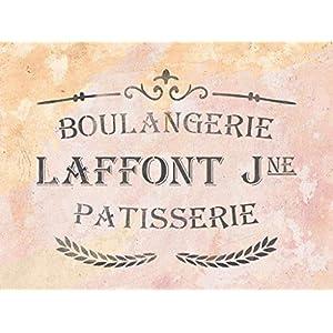 Shabby Chic Schablone mit französischer Schrift