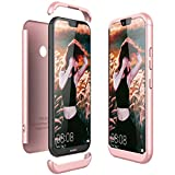 Coque Huawei P20 Lite, CE-Link Housse Etui en PC Matière pour Huawei P20 Lite Hybride Robuste 3 en 1 Dur Anti-rayures Mat PC Couverture 360 Degrés Protecteur Anti-égratignures Solide Cover - Rose Gold