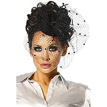 Burlesque disfraz para Carnaval mini-sombrero fascinador con velos A12145-1