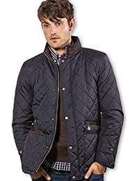 VEDONEIRE Mens Quilted Jacket (3039 NAVY) padded coat blue