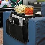 #4: Cartshopper Arm Rest Organizer -Sofa Couch Remote Control Holder Table Storage Pocket & Sofa Caddy 6 Slots Snack Tray Top
