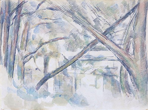 Das Museum Outlet-Crossing Bäume auf die Banken der Eau, 1896, gespannte Leinwand Galerie verpackt. 29,7x 41,9cm