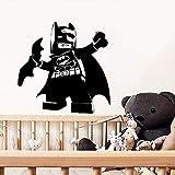GJQFJBS Stickers muraux créatifs style de dessin animé Batman stickers muraux amovibles chambre décoration murale chambre d'enfant mur gris 43x43cm...
