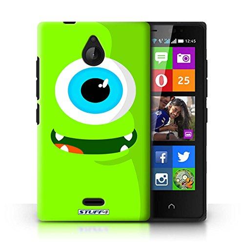 Kobalt® Imprimé Etui / Coque pour Nokia X2 Dual Sim / Pourpre conception / Série Monstres Vert