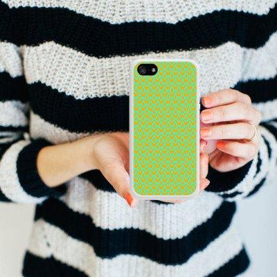 Apple iPhone 5 Housse étui coque protection Motif Motif Bleu Housse en silicone blanc