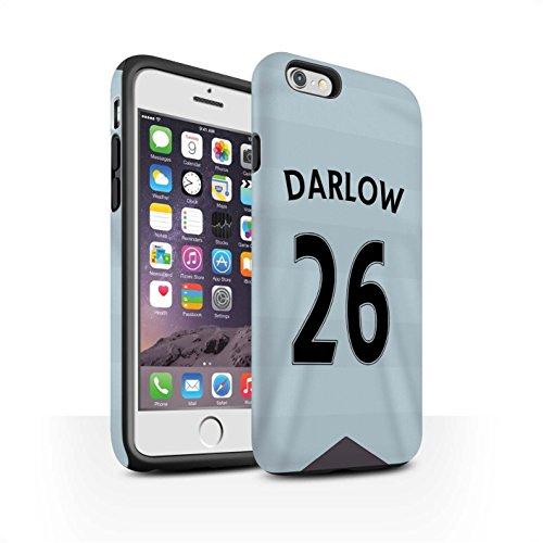 Offiziell Newcastle United FC Hülle / Matte Harten Stoßfest Case für Apple iPhone 6 / De Jong Muster / NUFC Trikot Away 15/16 Kollektion Darlow