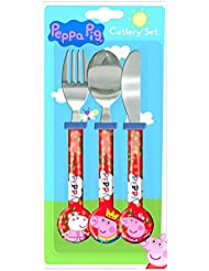 Peppa Pig 'Once Upon A Time' 3 Piece Cutlery Set | Knife, Fork and Spoon