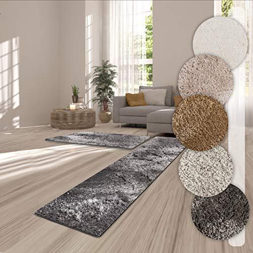 Passatoia corridoio al metro - tappeto shaggy a pelo lungo (3.5 cm), ultra - morbido, in vari colori - 66x300 - grigio chiaro