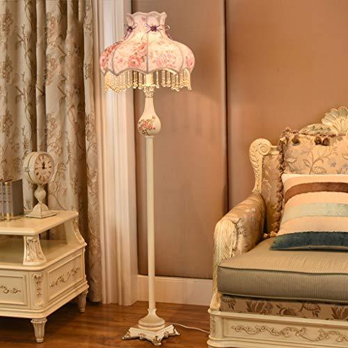 Stehleuchte Licht Tuch - L8778 Europäischen Schlafzimmer Wohnzimmer Nordic American Retro Prinzessin Einfache Kreative Vertikale Beleuchtung (Farbe : B)