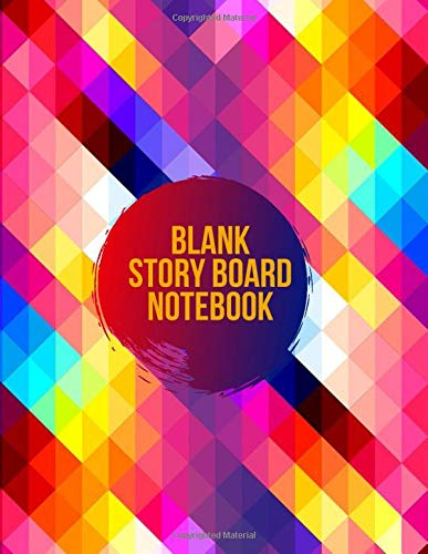 Blank Story Board Notebook: Clapperboard and Frame Sketchbook Log Book Guide Template Panel Pages Book and 4 Frames Per Page For Movie Making Gift For ... Pages (Film Writing & Sketching Log, Band 2)