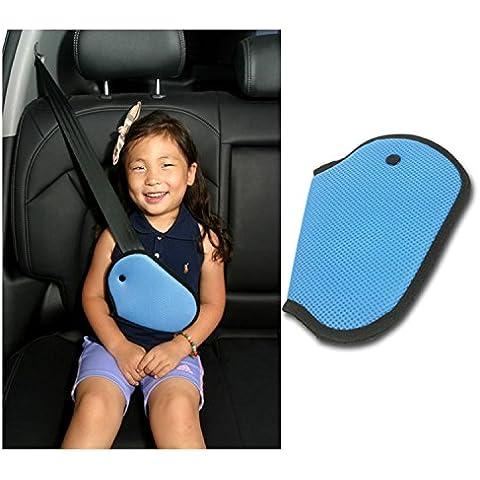 Coche de seguridad infantil para arnés reubica correa ajustador Mash–Almohadilla para cinturón de seguridad cinturón de seguridad Clip pinzas para adultos niños cinturón de seguridad de arranque