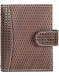 Hide&Sleek Soft Brown Grain Artificial Leather Card Holder