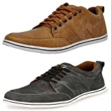 #4: T-Rock Men's Combo Pack Sneakers Black & Tan Casual Shoes